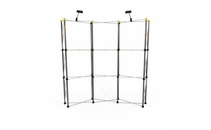 Vison pop-up spider 3x3 curved large display wall | visionexposystems.com