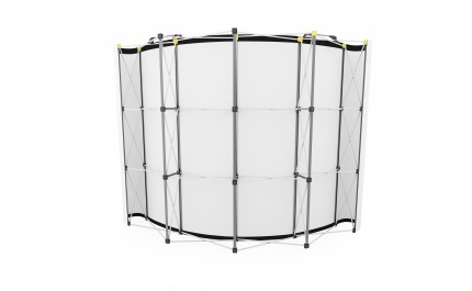 Vision pop-up spider 3x4 curved large display wall | visionexposystems.com