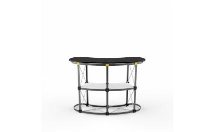 Desk expandabil Pop-up Desk Maxi Curved | visionexposystems.com