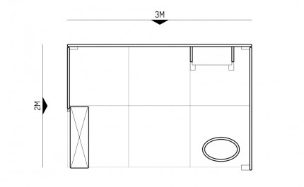 2x3 Exhibition stand - 1A - Floorplan
