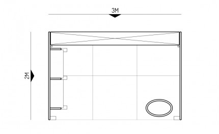 2x3-1C Cosmetic Products Exhibition stand - Floorplan