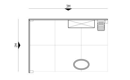 2x3-2A Handicraft Products Exhibition stand - Floorplan