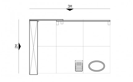 2x3-2B Perfumes Exhibition stand - Floorplan