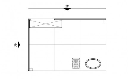 2x3-2C Wedding Dresses Exhibition stand - Floorplan