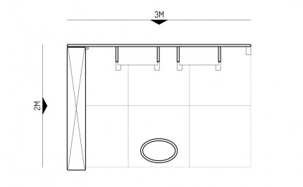 2x3-2D Essential Oils Exhibition stand - Floorplan