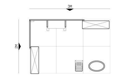 2x3-2E Textile Fabrics Exhibition stand - Floorplan