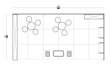 3x6-1A Travel Agency Exhibition stand - Floorplan
