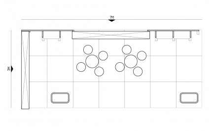 3x7-2E Coffee Machines Exhibition stand - Floorplan