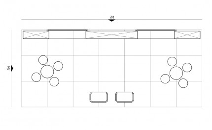 3x7-3B Food Products Exhibition stand - Floorplan