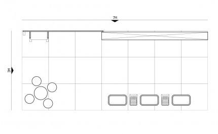3x7-3C Chocolate Shop Exhibition stand - Floorplan