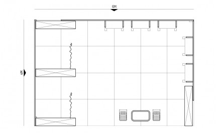 4x6-1A Clothing Products Exhibition stand - Floorplan