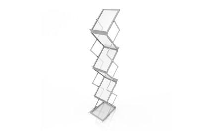 Stand Brosuri Pliabil Z Plexiglas A4 | visionexposystems.com