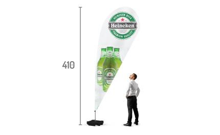 Teardrop beachflag XL | visionexposystems.com