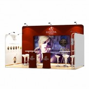 3x5-1C Chocolate Shop Exhibition stand